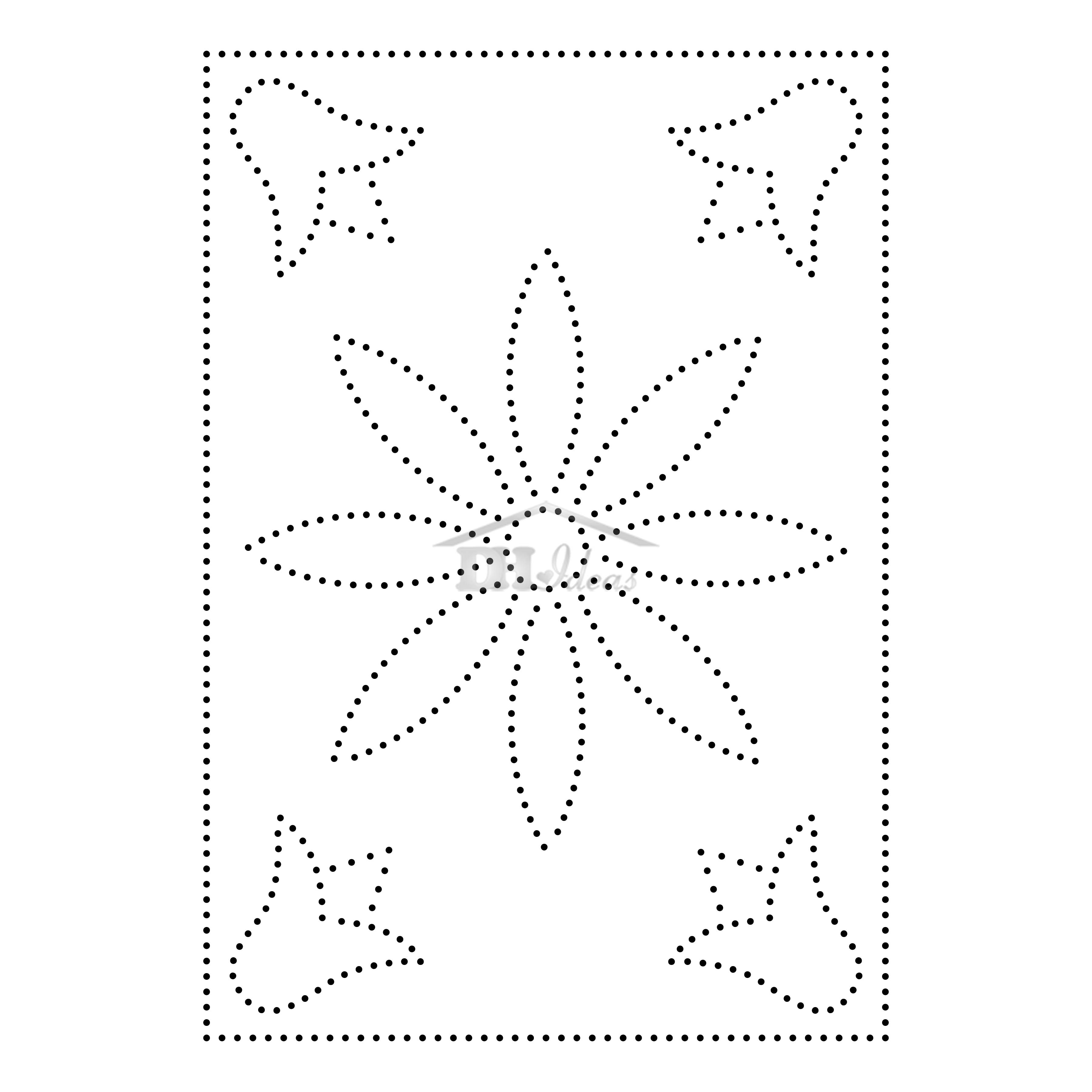 This is an image of Accomplished Free Printable String Art Patterns