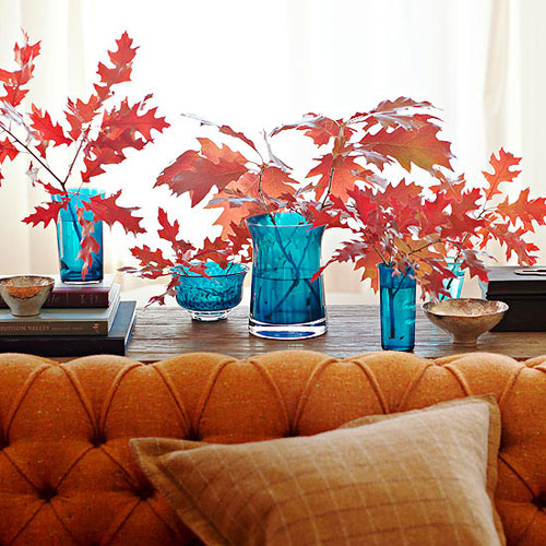 Fall foliage and decoration #falldecor #falldecorideas #livingroom #autumndecor #homedecor #decorhomeideas