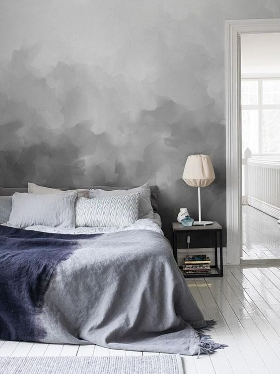 Ombre accent wall #homedecor #bedroom #decoratingideas #accent #decorhomeideas