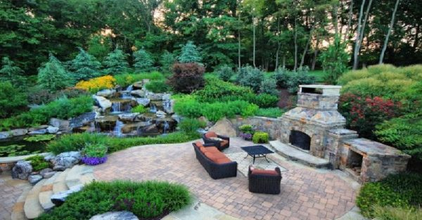 Waterfalls in Backyard Landscaping