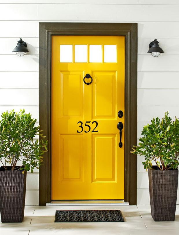 Golden yellow front door
