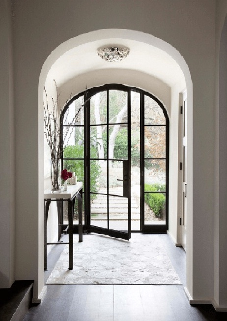 Metal-and-glass front door