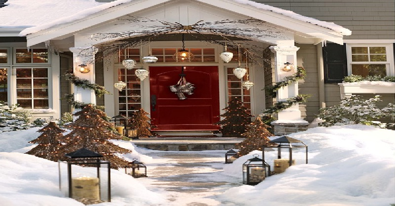 christmas front door decorating ideas - Christmas Front Door Decor