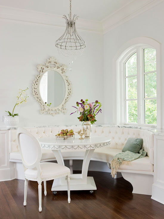 Formal-style banquette