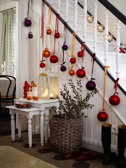 Candles and hanging balls