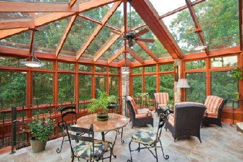 Contemporary sunroom