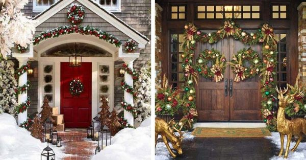 Christmas Front Door Decorating Ideas Decor Home Ideas