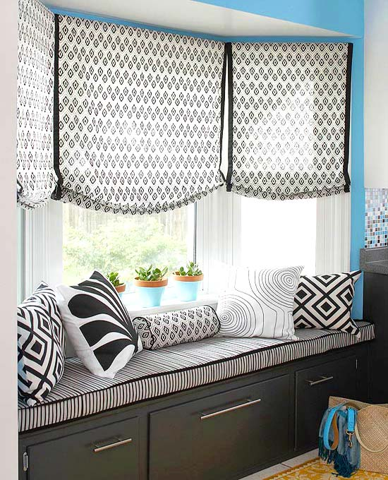 Banquette used as window seat