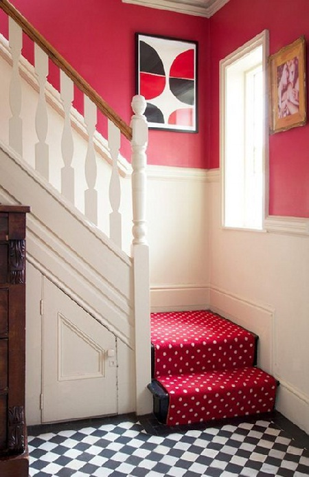 Stairway in red