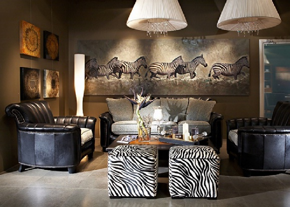 Zebra-inspired print and wall art