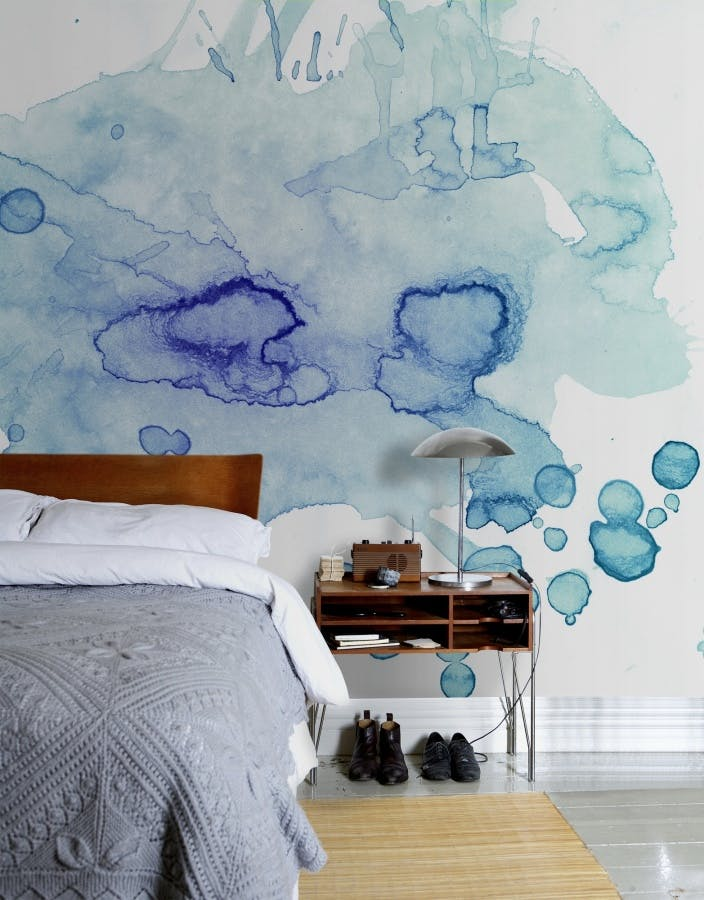 Color puddle wall mural