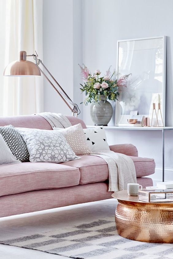 Blush couch