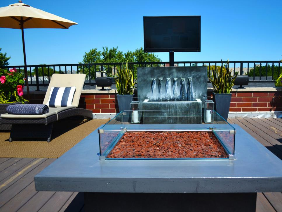 Firepit and a water feature