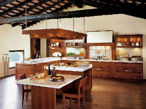 Contemporary eat-in kitchen