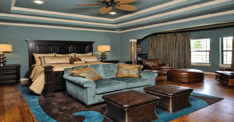 Bedroom in turquoise