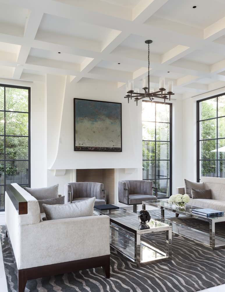 Classic coffered ceiling