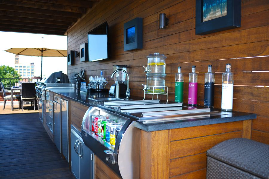 Functionality Rooftop deck kitchen