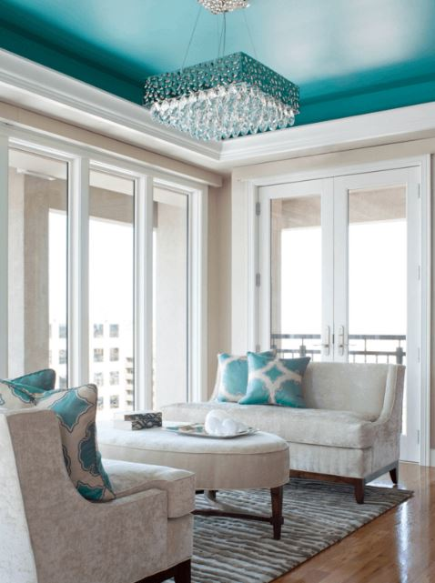 Turquoise ceiling