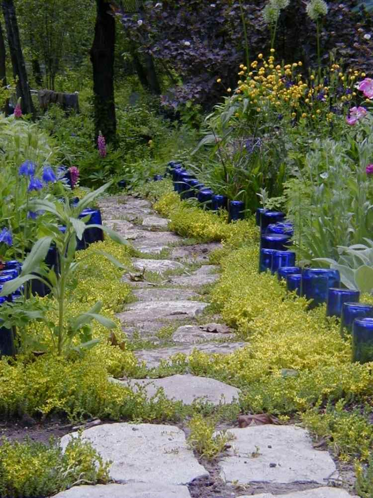 Pavers-and-grass pathway