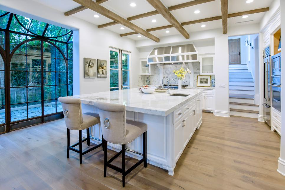 Rustic coffered ceiling
