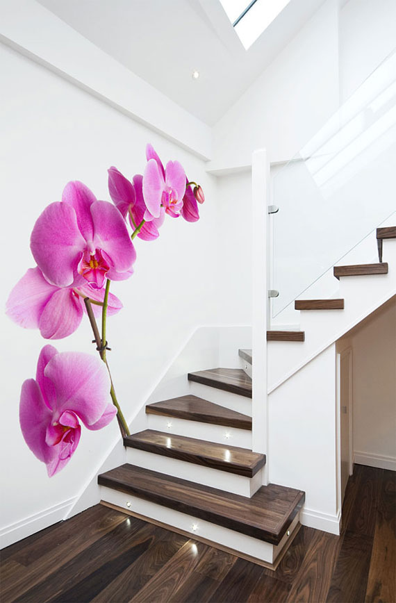 Radiant orchid wall mural