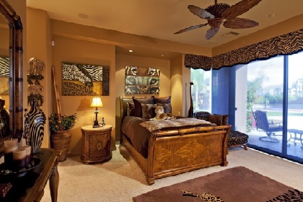 African-style bedroom