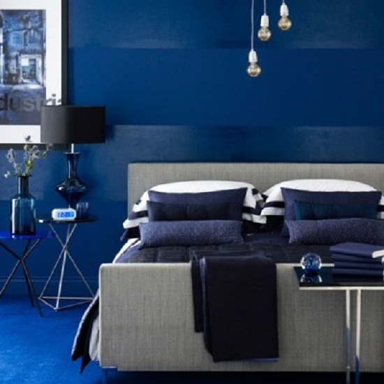 Indigo bedroom