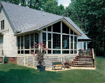 Newly built screened porch