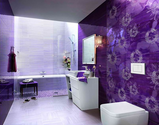 Bathroom in purple