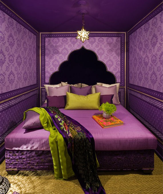 Moroccan-style bedroom
