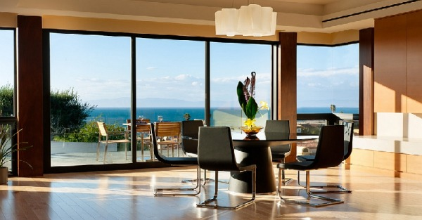 Dining space with a scenic view
