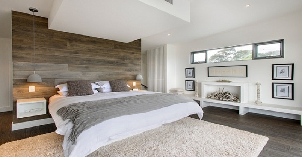 Wooden accent wall