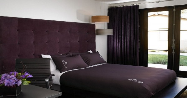 Bedroom in purple