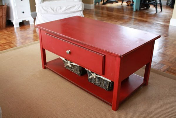 Red Coffee Table #tvcover