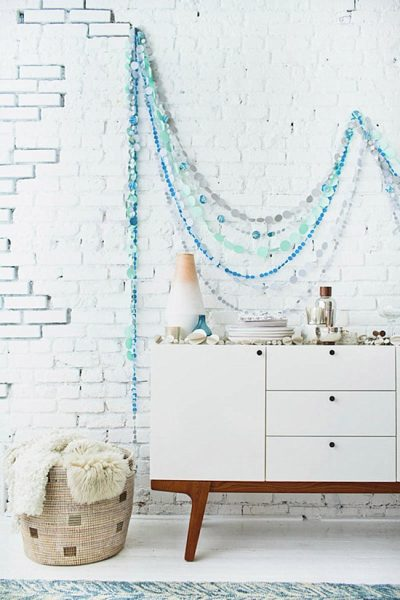Coastal mediterranean garland design #diy #Christmas #homedecor #decorhomeideas