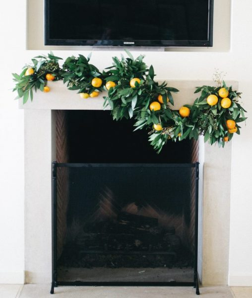 Garland made of orange tree #diy #Christmas #homedecor #decorhomeideas