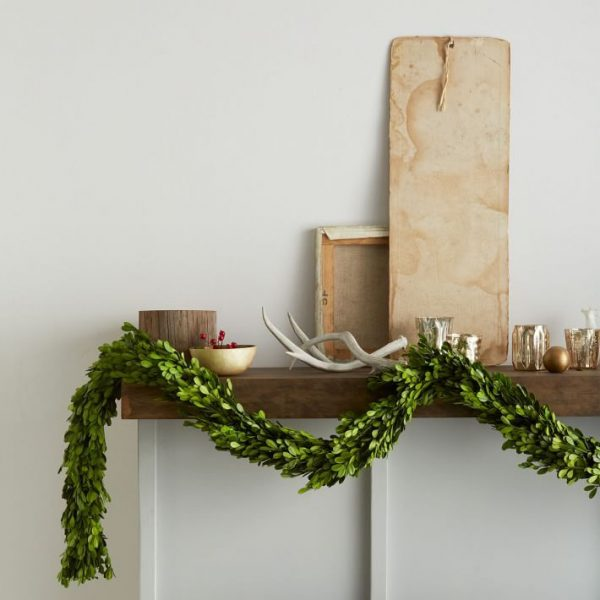 Green Christmas garland #diy #Christmas #homedecor #decorhomeideas