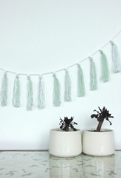 Simple garland #diy #Christmas #homedecor #decorhomeideas