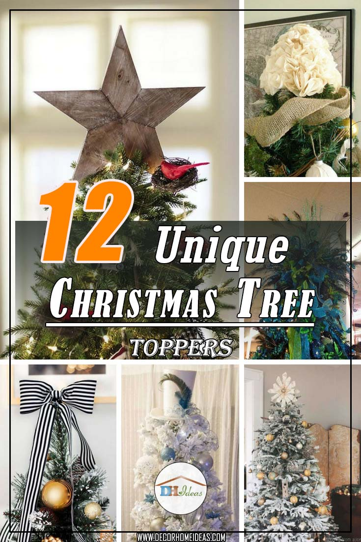 12 unique christmas tree toppers