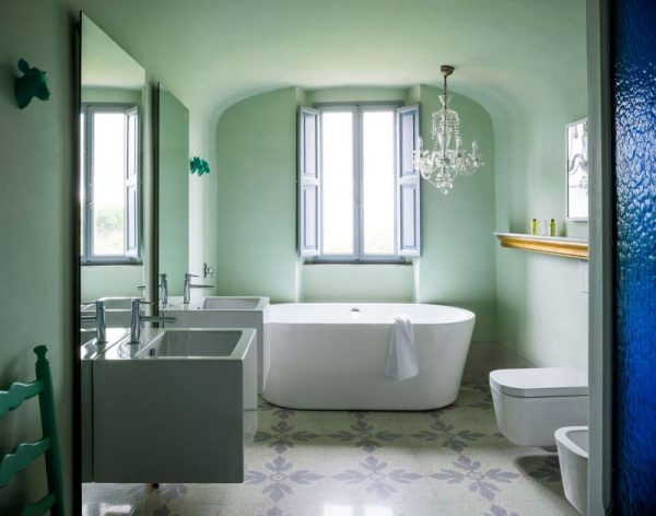 Pastel green bathroom interior #bathroom #bathroomdesign #bathroomideas #bathroomreno #bathroomremodel #decorhomeideas
