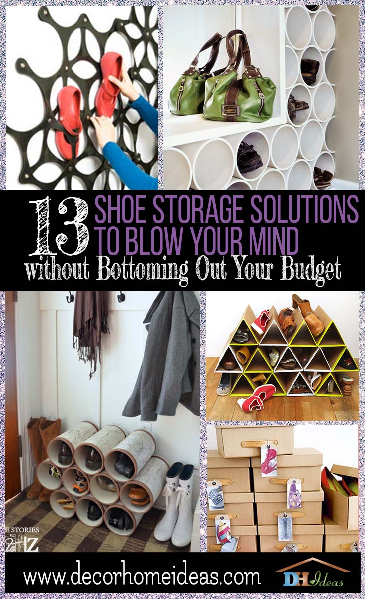 13 Shoe Storage Solutions Blow Your Mind | Tips and ideas on shoe storage, diy projects and interesting crafts #shoes #homedecor #diy #storage #organize #homedecor #decoratingideas #shoes #decorhomeideas