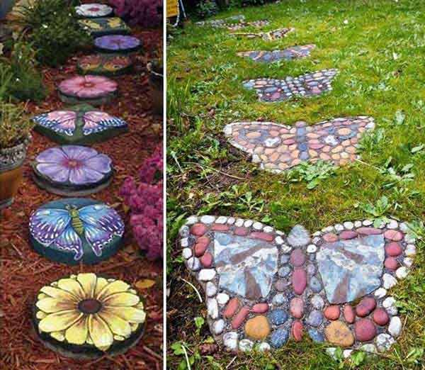 Garden pathway butterflies #garden #diy #gardenideas #pathway #alley #gardening #landscaping #outdoordesign #backyard #decorhomeideas