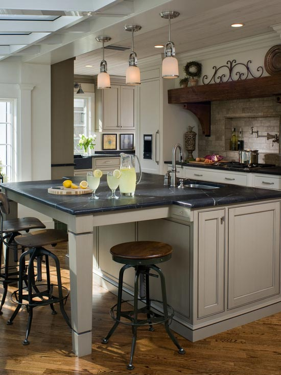 21 kitchen islands with seating you 39 ll never stop dreaming - Kitchen island with seating for 6 ...