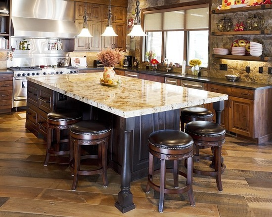 Rustic kitchen island #kitchen #furniture #interiordesign #kitchenisland #seating #homedecor #decorhomeideas