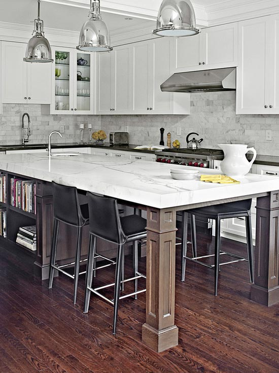 White marble kitchen island #kitchen #furniture #interiordesign #kitchenisland #seating #homedecor #decorhomeideas