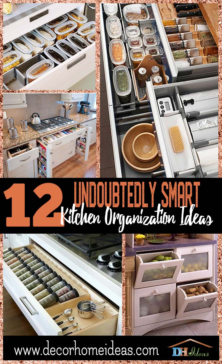 12 Undoubtedly Smart Kitchen Organization Ideas | Storage and organization ideas and tips for your kitchen #kitchen #storage #organize #organization #decor #homedecor #decoratingideas #decorhomeideas
