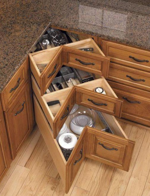 Corner Drawers kitchen #kitchen #storage #organize #organization #decor #homedecor #decoratingideas #decorhomeideas