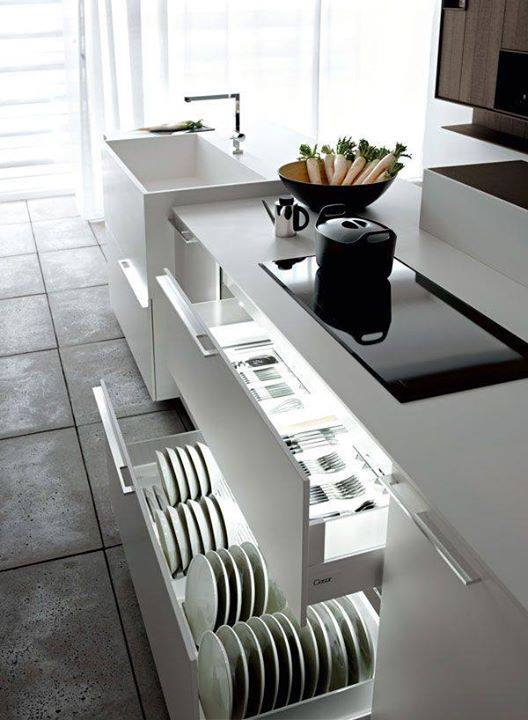 Modern look organization kitchen drawers #kitchen #storage #organize #organization #decor #homedecor #decoratingideas #decorhomeideas