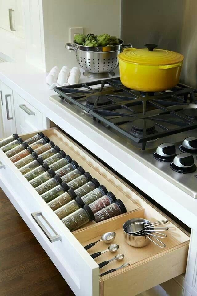 Spice rack ideas drawer