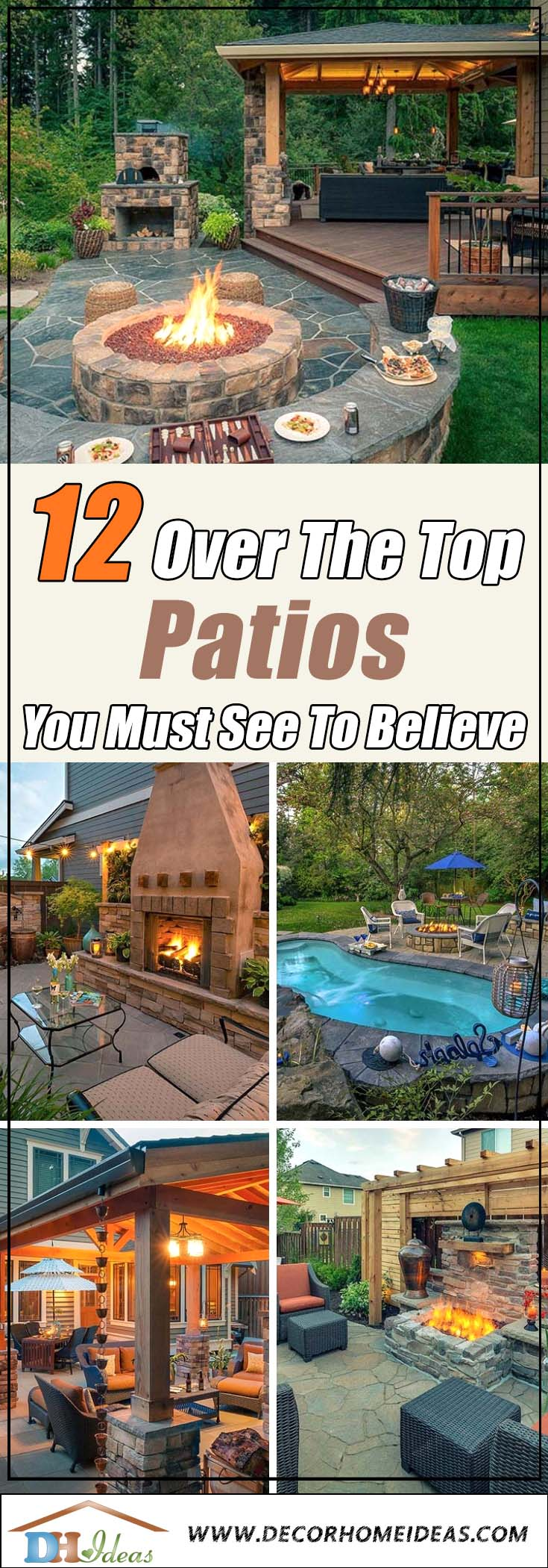 12 Over the Top Patios You Must See Believe | Amazing patio ideas and design for your backyard #patio #homedecor #backyard #furniture #garden #decoratingideas #decorhomeideas